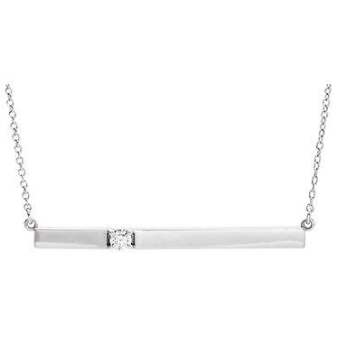 The Minimal Delicate Bar & Diamond Pendant