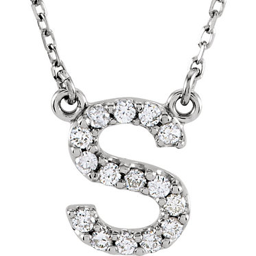 The Minimal Diamond Initial Pendant & Necklace