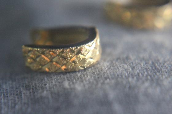 Gold Nucifera Earrings