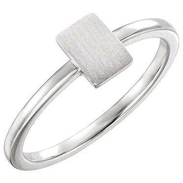 The Minimal Petite Rectangle Signet Ring