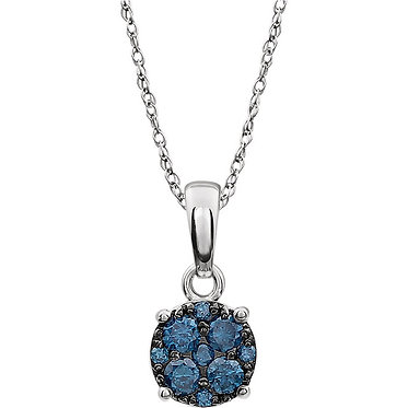 The Blue Cluster Necklace & Pendant
