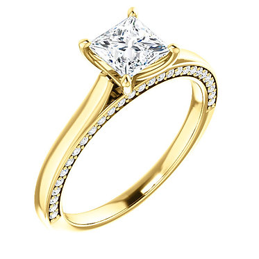 The Accented Square Solitaire