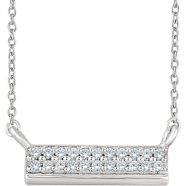 The Double Row Petite Diamond Pendant & Necklace