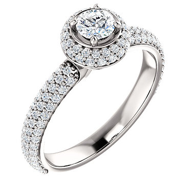 The Round Double Accented Ring