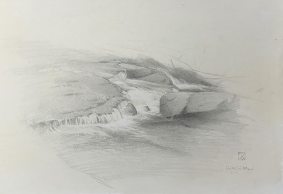 Jackson Falls, graphite