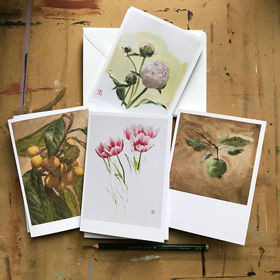 Cards - Fruits and Flowers