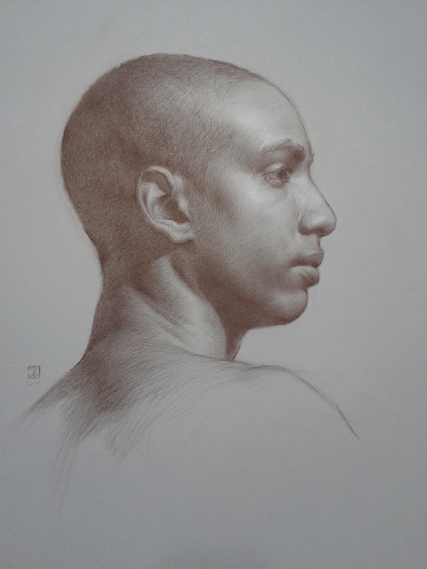 Study of Juan Michael in Profile