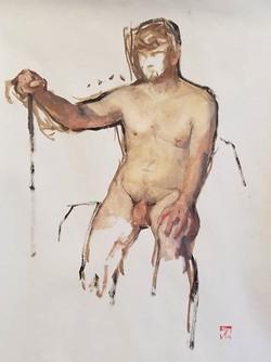 Sebastian, oil sketch