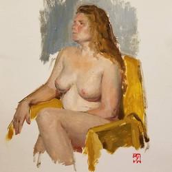 Brooke, yellow chair