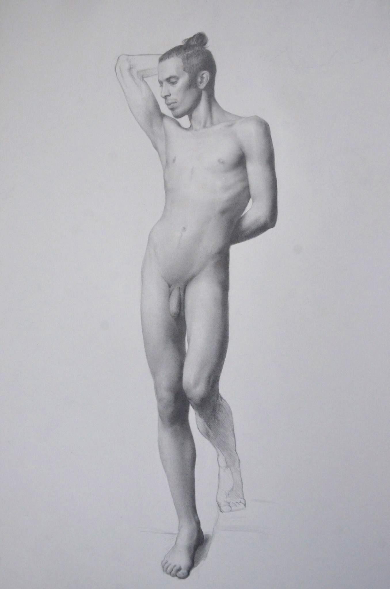 male figure study, Leo