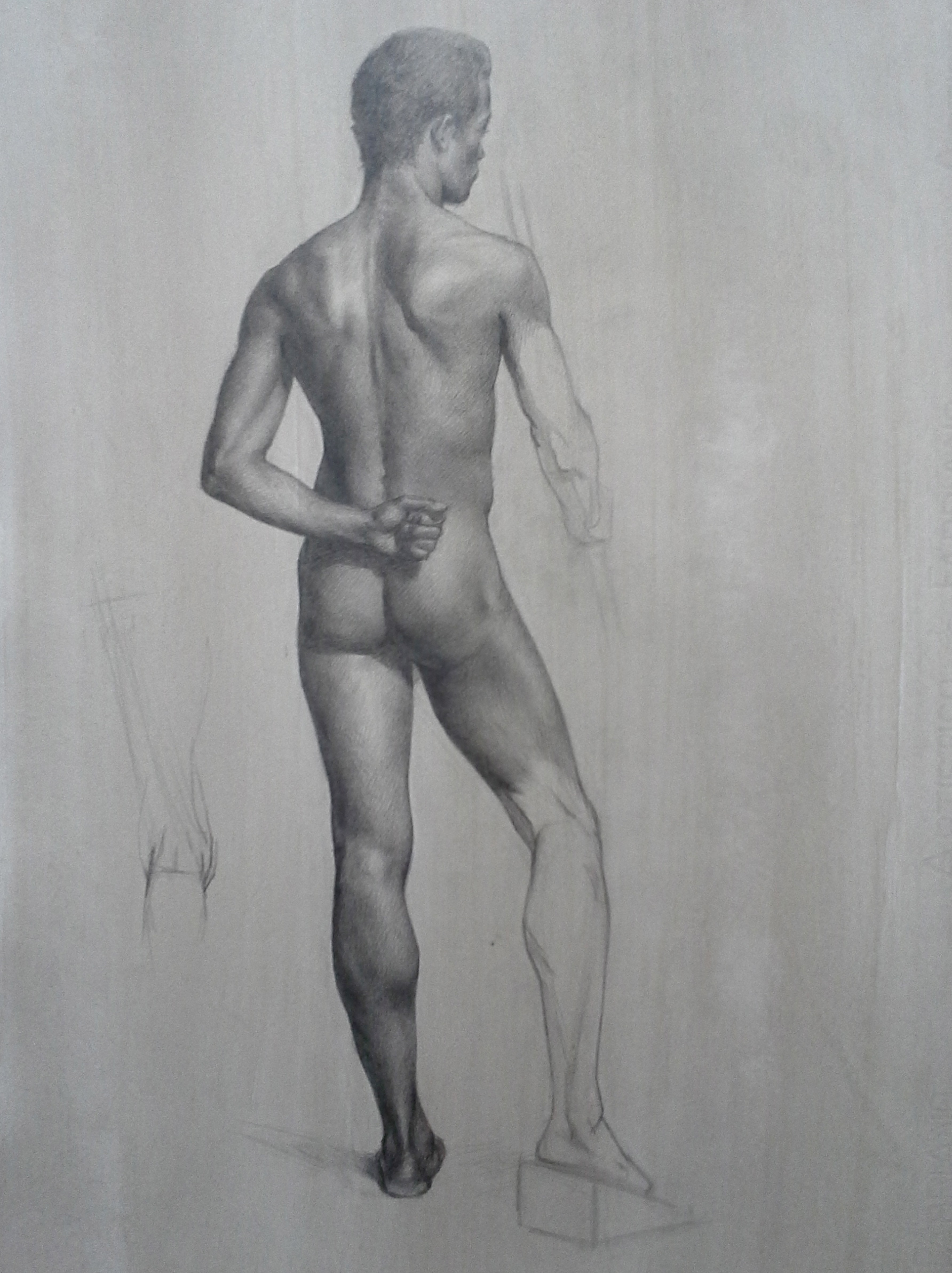 male figure study, Andre