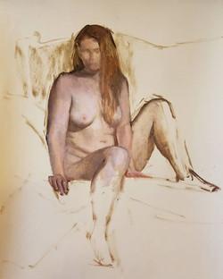 Brooke, oil sketch