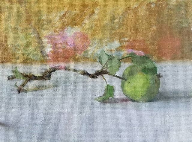 Apple study, over roses