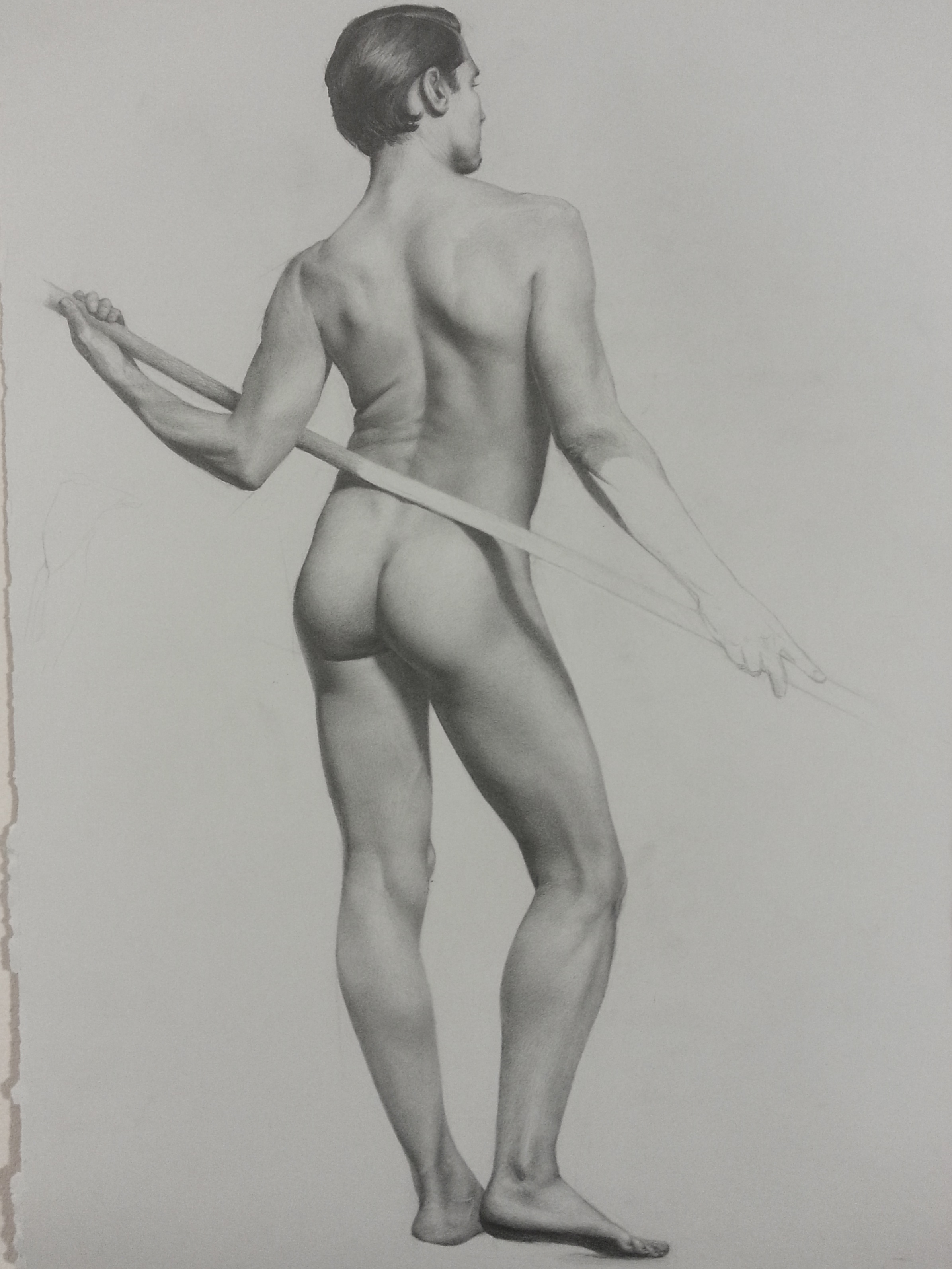 Male Figure Study, Santiago