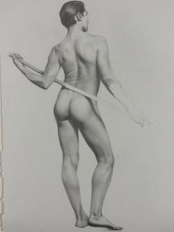 Male Figure Study, Santiago