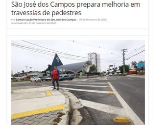 São José dos Campos prepara melhoria em travessias de pedestres