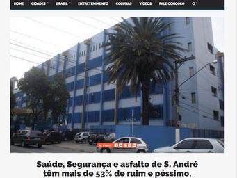 Saúde, Segurança e asfalto de S. André têm mais de 53% de ruim e péssimo, segundo pesquisa