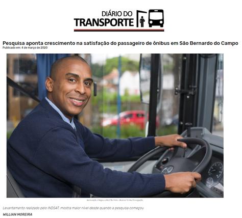 Pesquisa aponta crescimento na satisfação do passageiro de ônibus em São Bernardo do Campo