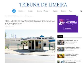 GRAU MÉDIO DE SATISFAÇÃO: Câmara de Limeira tem 29% de aprovação