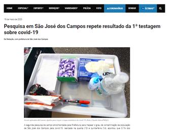 Pesquisa em São José dos Campos repete resultado da 1ª testagem sobre covid-19