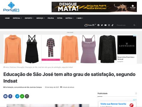 Educação de São José tem alto grau de satisfação, segundo INDSAT