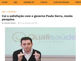 Cai a satisfação com o governo Paulo Serra, revela pesquisa