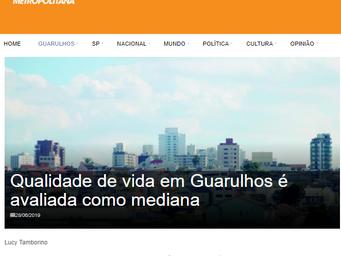 Qualidade de vida em Guarulhos é avaliada como mediana