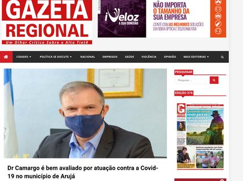 Dr Camargo é bem avaliado por atuação contra a Covid-19 no município de Arujá