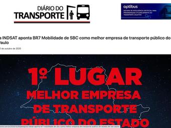 Pesquisa INDSAT aponta BR7 Mobilidade de SBC como melhor empresa de transporte público do Estado de