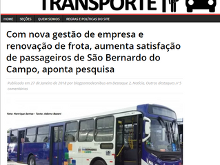 Com nova gestão de empresa e renovação de frota, aumenta satisfação de passageiros de São Bernardo d