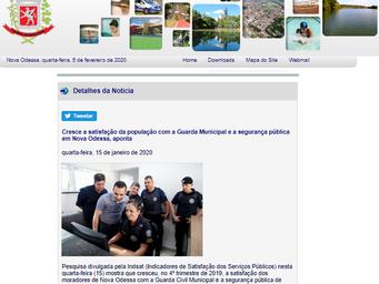 Cresce a satisfação da população com a Guarda Municipal e a segurança pública em Nova Odessa, aponta