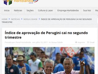 Índice de aprovação de Perugini cai no segundo trimestre