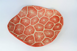 Spiny Sea Urchin Coral Platter