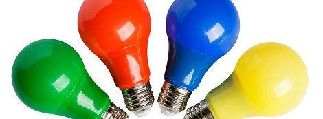 Farbige Leuchtmittel, Partylampen