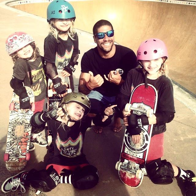Eu e as feras do skate