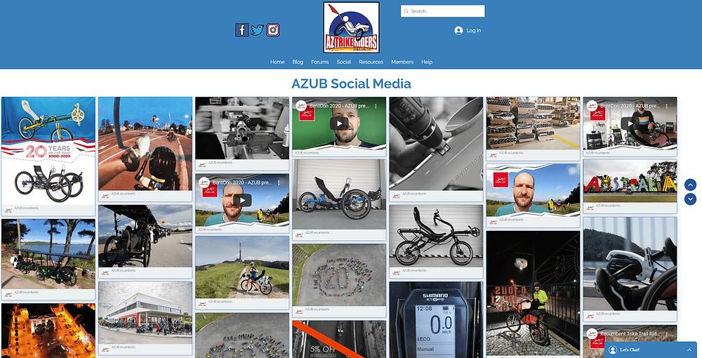 AZUB Soical Media Feed