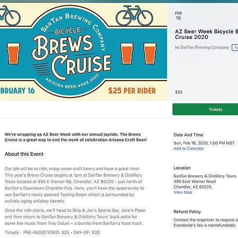 AZ Beer Week Bicycle Brews Cruise 2020 - $25 Per Rider
