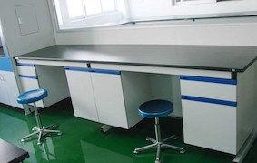 Steel-Wooden-Lab-Furniture-Side-Table-La