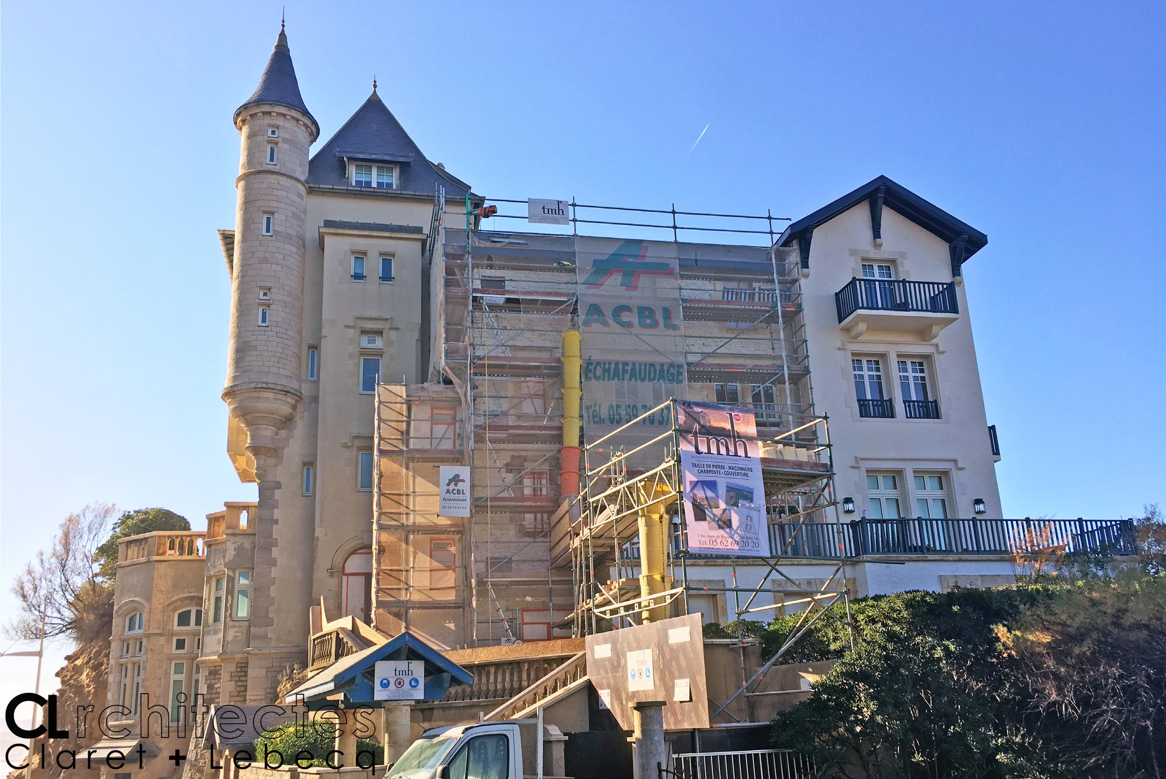 villa belza biarritz_ echaffaudage