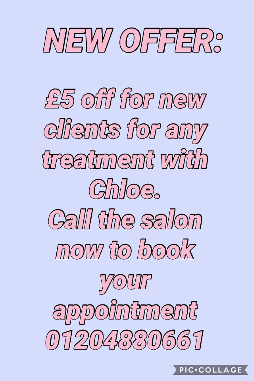 Welcoming all new clients with this £5 off offer