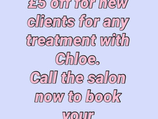 £5 OFF for new clients!