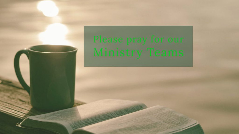 CrossRoad Monday in Prayer for Ministry Teams
