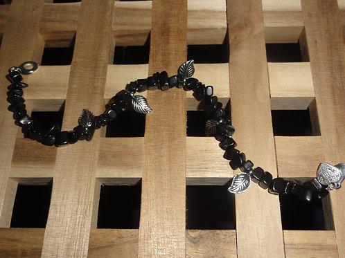 Armband aus Onyx- Splittern