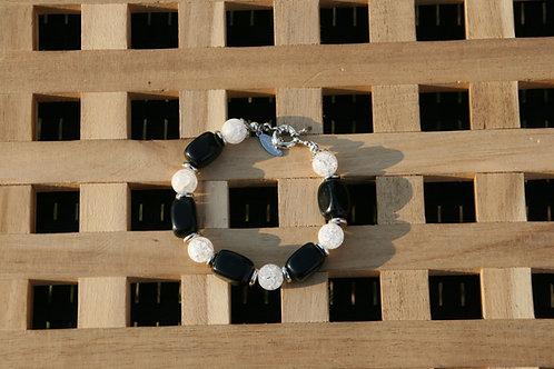 Armband Onyx-Berggkristall