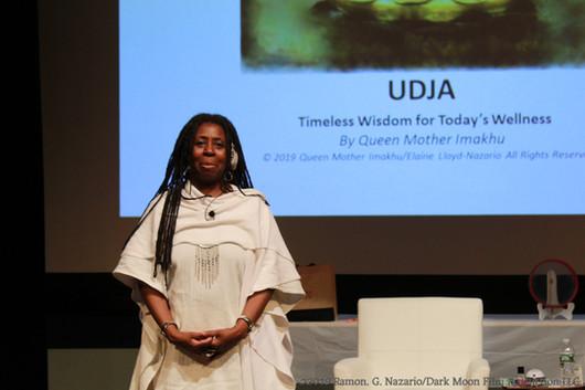 Queen Mother Imakhu speaking at Newark M