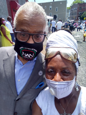 Queen Mother Imakhu with Rev. Al Sharpton