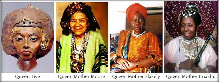 The Queen Mothers collage by Elaine Lloy