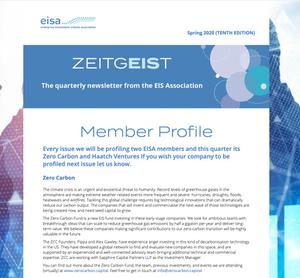 Screenshot of EISA newsletter