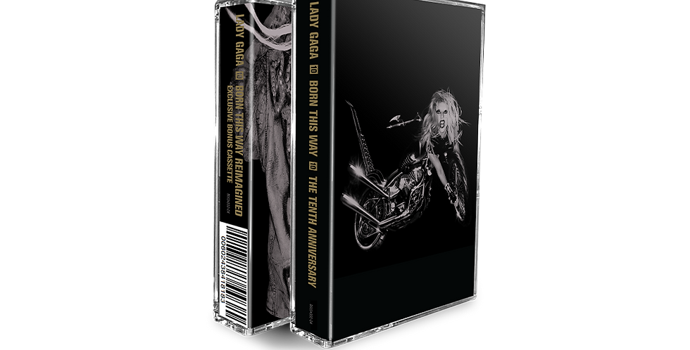 Lady Gaga - 2x Cassete Born This Way 10th Anniversary