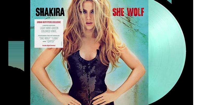 Shakira - 2x LP She Wolf Verde Limitado